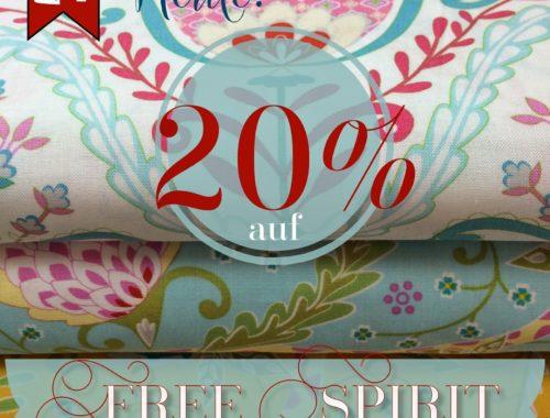 Türchen N°21 im Adventsmirakel: 20% Rabatt auf Stoffe von Free Spirit!