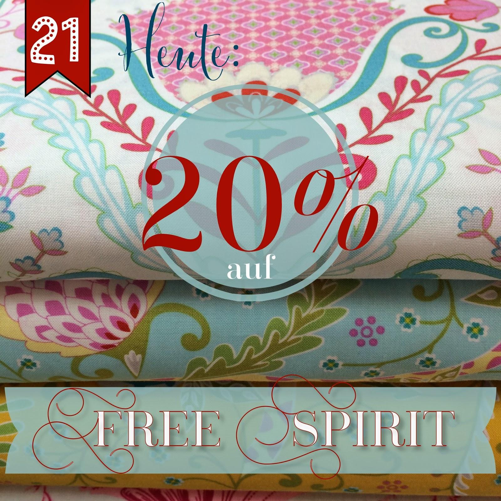 Türchen N°21 im Adventsmirakel: 20% Rabatt auf Stoffe von Free Spirit! 2