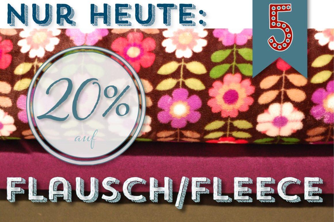 Türchen N°5 im Adventsmirakel: 20% auf Fleece & Flausch!