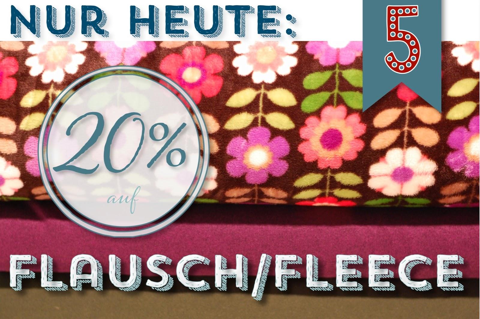 Türchen N°5 im Adventsmirakel: 20% auf Fleece & Flausch! 2