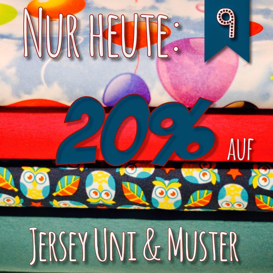Türchen N°9 im Adventsmirakel: 20% Rabatt auf Jersey gemustert & uni!