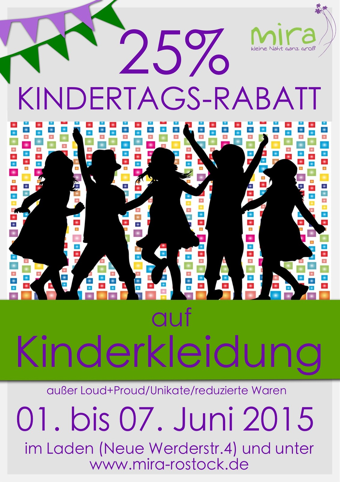 Kindertags-Rabatt bei mira! :-)