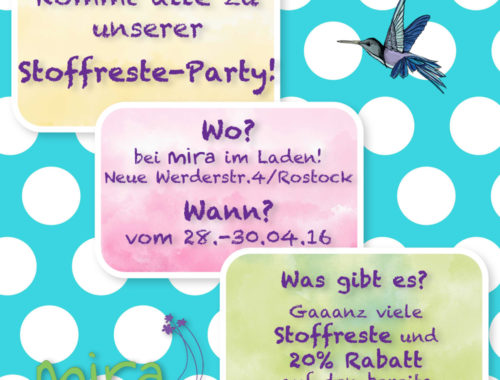 Stoffreste-Party bei mira! :-)