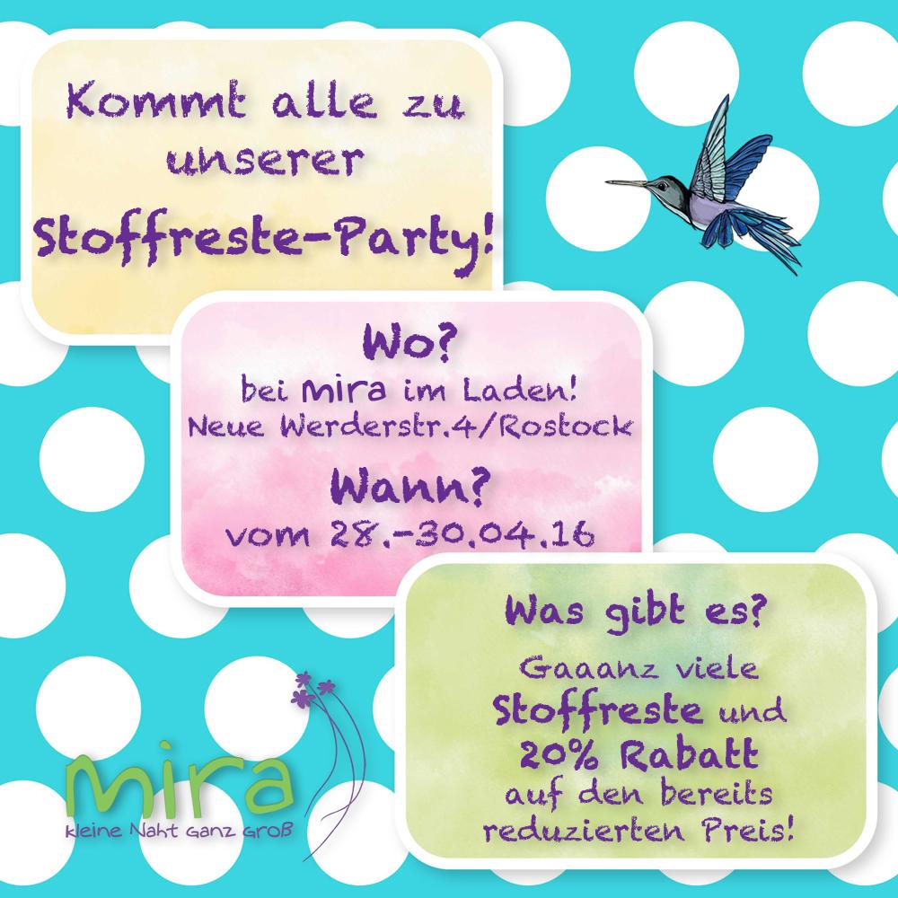 Stoffreste-Party bei mira! :-)