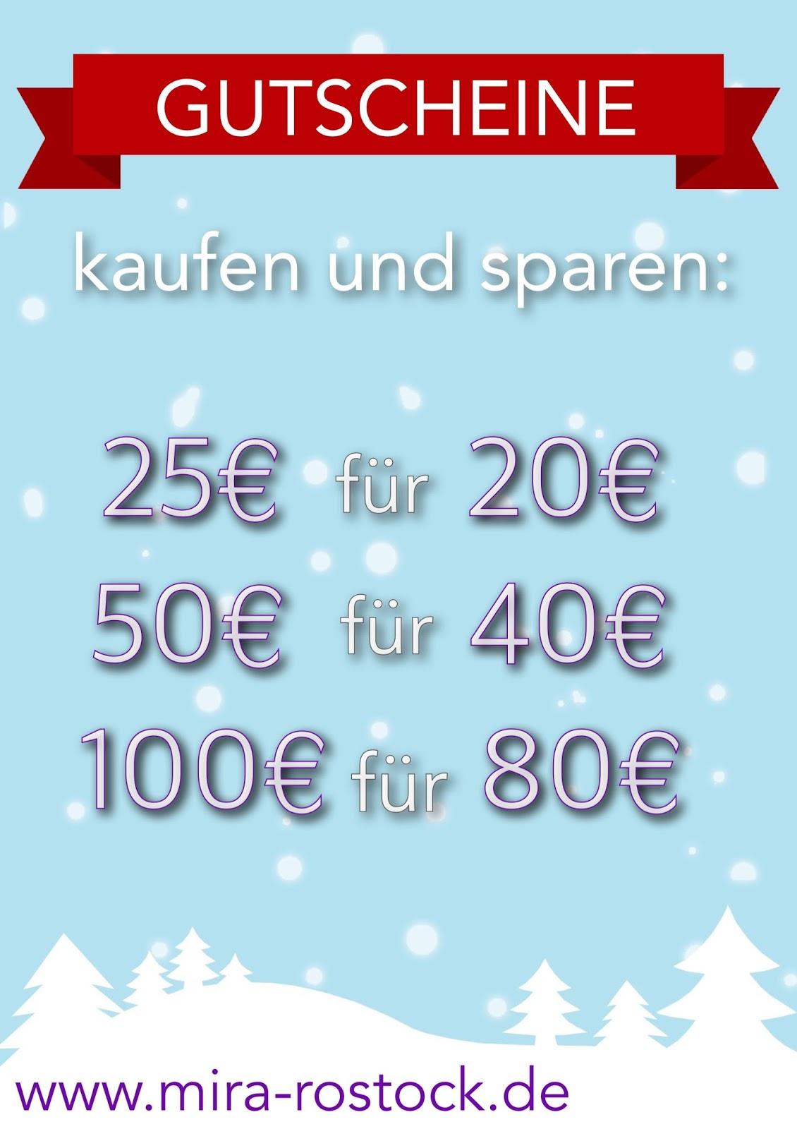 miras Advents-Countdown - Gutscheine kaufen und sparen!