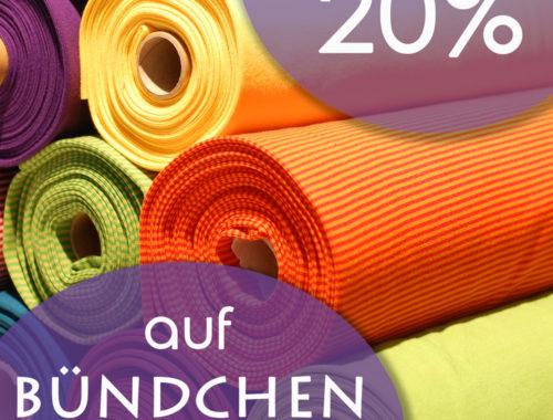 miras Adventscoutndown - 20% auf Bündchen-Stoffe!