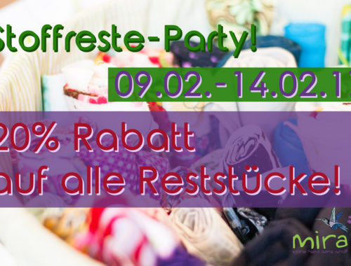 Stoffreste-Party!!