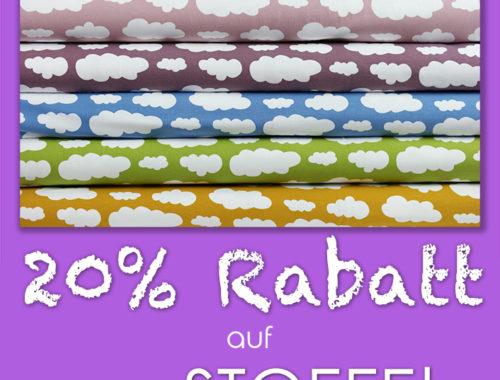 miras Messe-Special mit 20% Rabatt auf Stoffe!