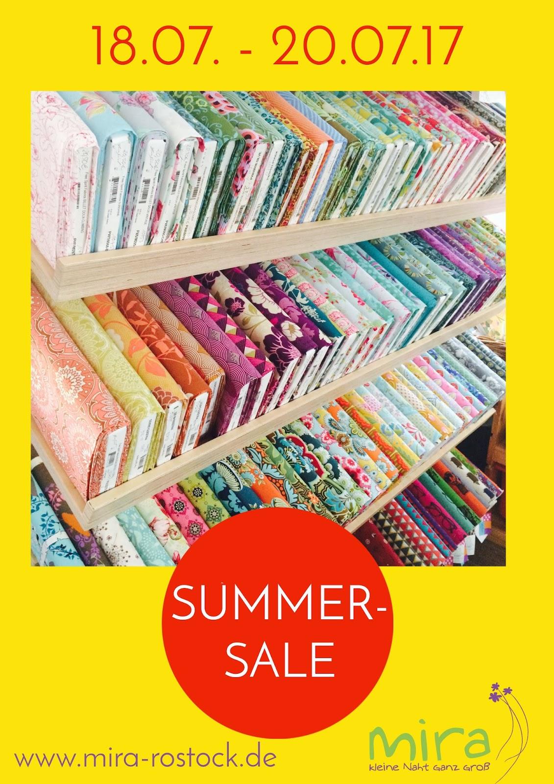 Stoff-Summer-Sale bei mira! 3 Tage lang 50% sparen!