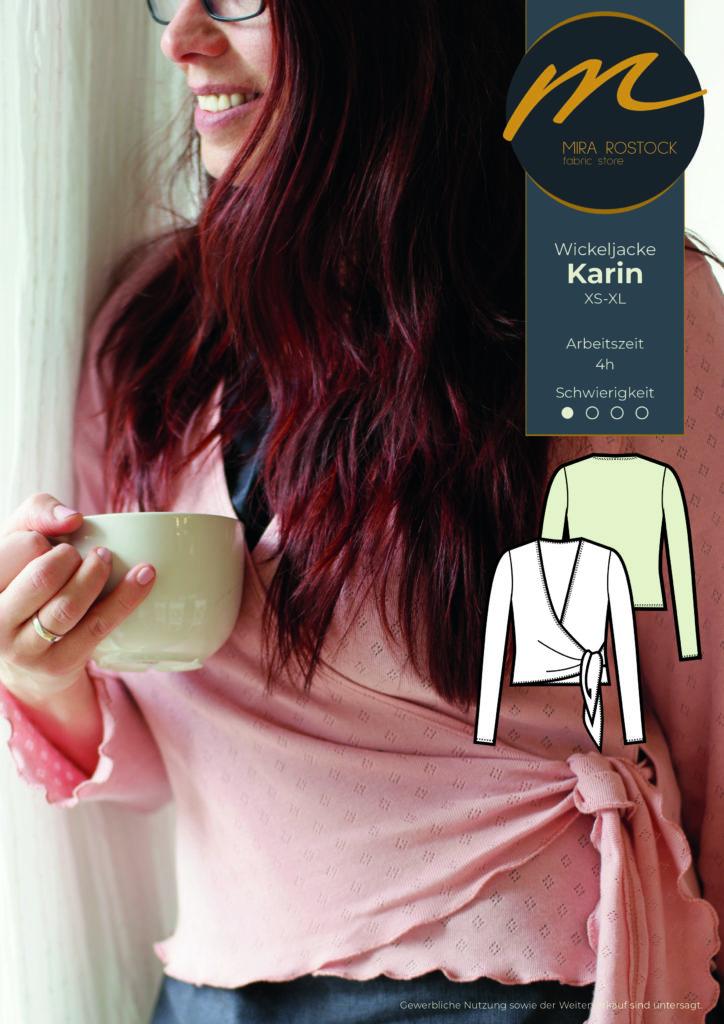 Nähanleitung zur Wickeljacke Karin aus unserer Miras Team-Collection