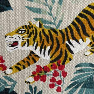 EMMA Canvas Leinenoptik Tiger/Dschungel natur zoom