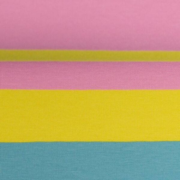 GALA Jersey Blockstreifen Jersey rosa gelb tuerkis