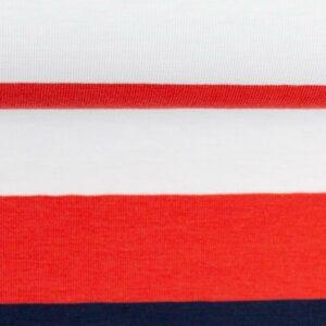 GALA Jersey Blockstreifen Jersey weiß rot dunkelblau