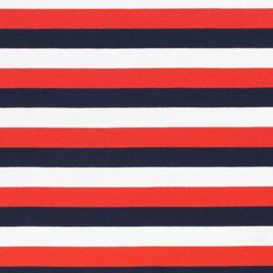 GALA Jersey Blockstreifen Jersey weiß rot dunkelblau total
