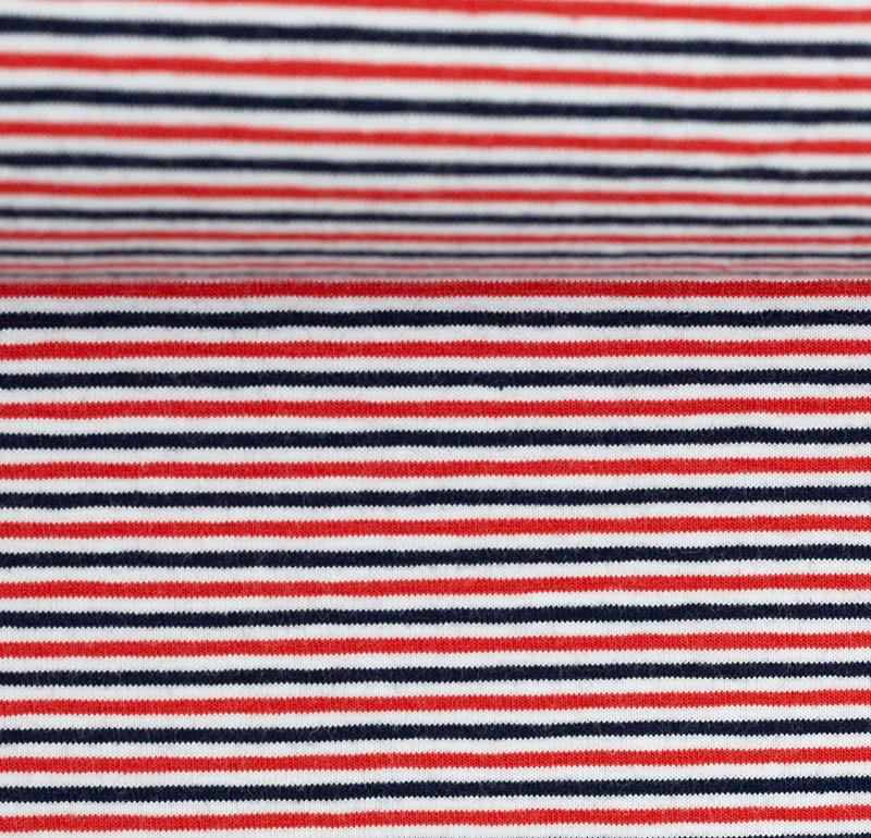 GALA Jersey Ringel Jersey weiß rot dunkelblau