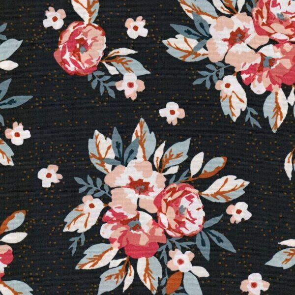 HOMEBODY Popeline Blüten graphitgrau 4