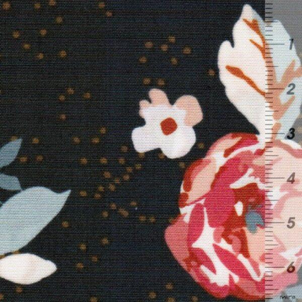 HOMEBODY Popeline Blüten graphitgrau 5
