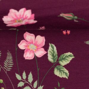 JONNE Jersey Blumen bordeaux