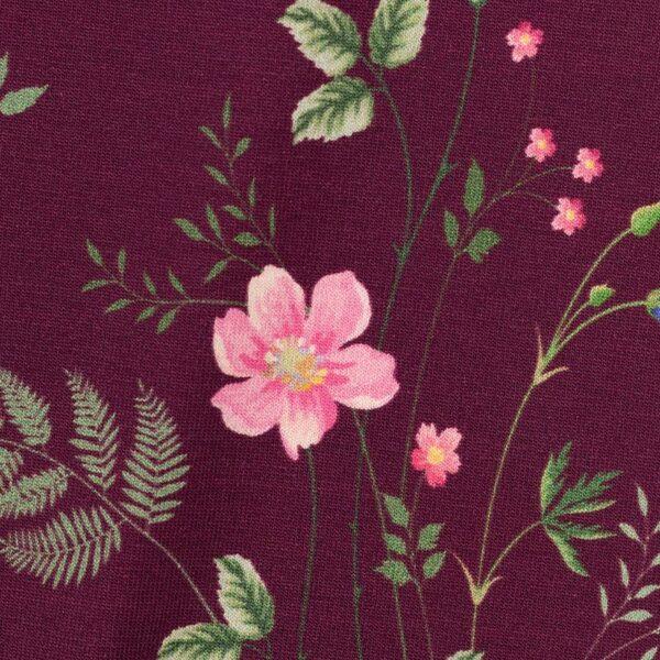 JONNE Jersey Blumen bordeaux zoom