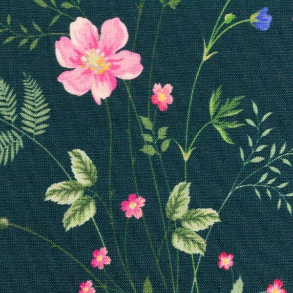 JONNE Jersey Blumen petrol zoom