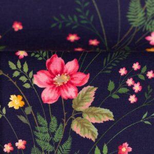 JONNE Jersey kleine Blumen dunkelblau