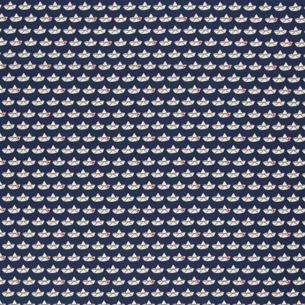 LOVEBOAT by Cherry Picking Popeline Papierboote dunkelblau total