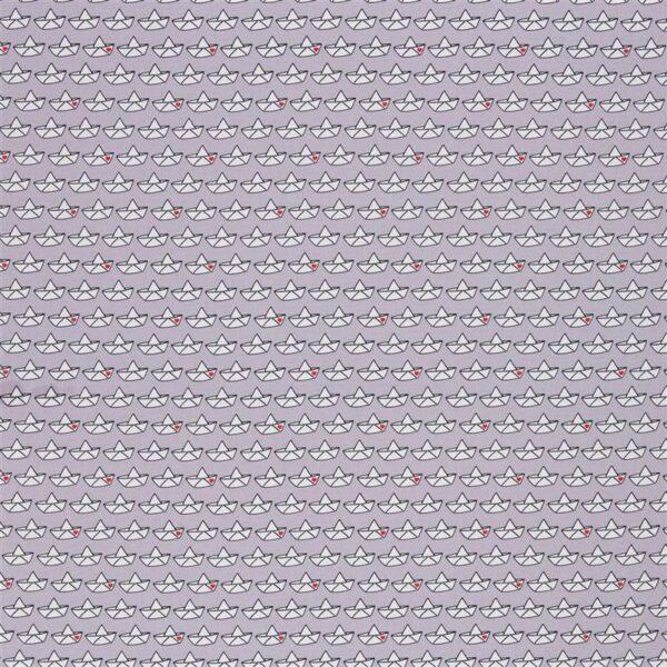LOVEBOAT by Cherry Picking Popeline Papierboote grau total