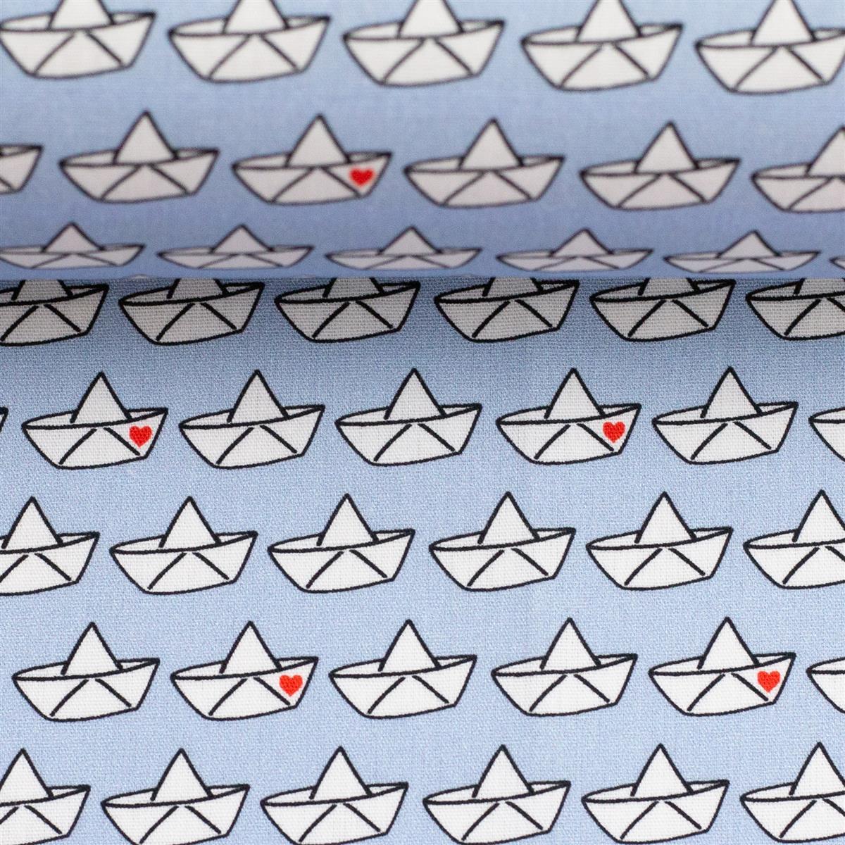 LOVEBOAT by Cherry Picking Popeline Papierboote hellblau
