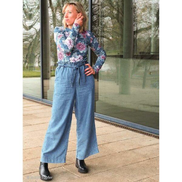MY WATERCOLOR GARDEN by Lila Lotta Jersey jeansblau model1