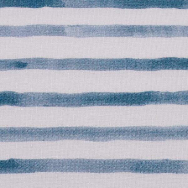 OCEAN BREEZE Jersey Streifen rauchblau weiß zoom
