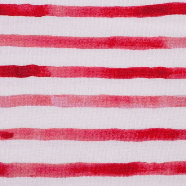OCEAN BREEZE Jersey Streifen rot weiß zoom