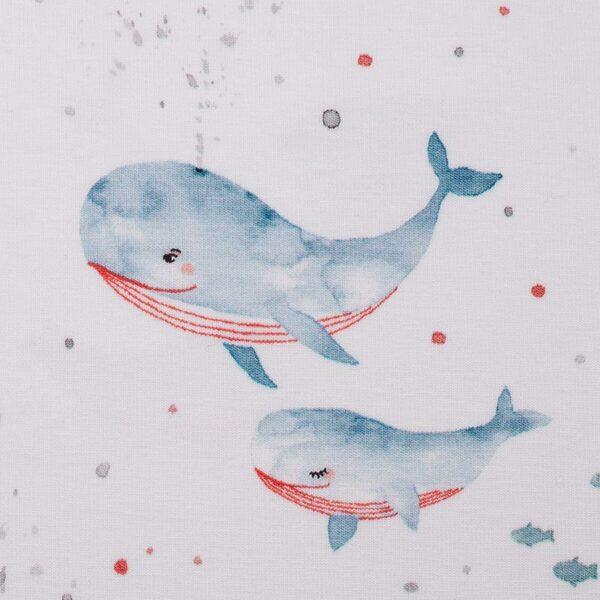 OCEAN BREEZE Jersey Wale rauchblau rot weiß zoom