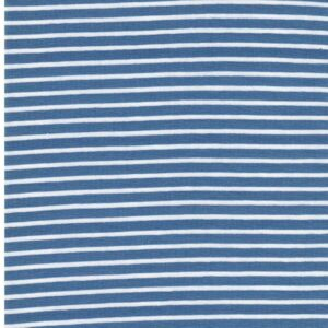 CAMPAN Baumwoll-Jersey Streifen hellblau weiss 2