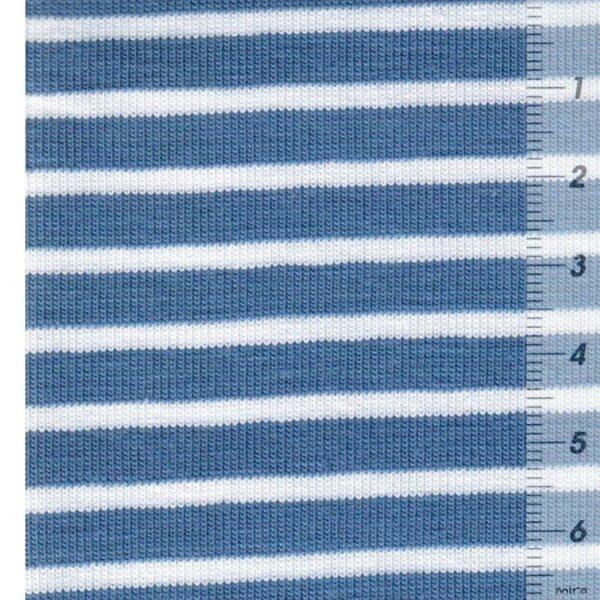 CAMPAN Baumwoll-Jersey Streifen hellblau weiss zoom
