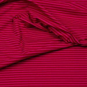 CAMPAN Baumwoll-Jersey Streifen rot pink