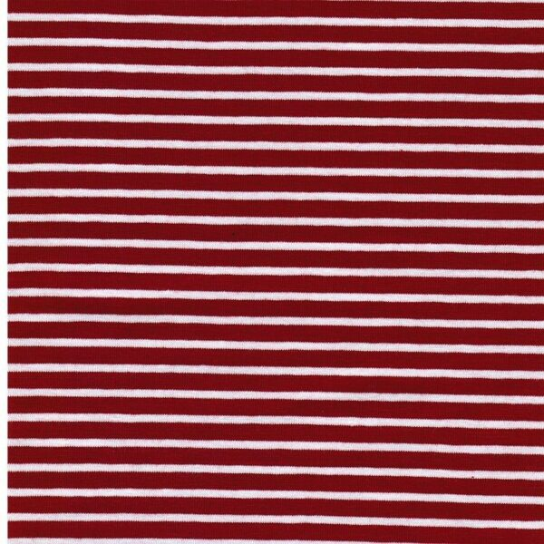 CAMPAN Baumwoll-Jersey Streifen rot weiss 2