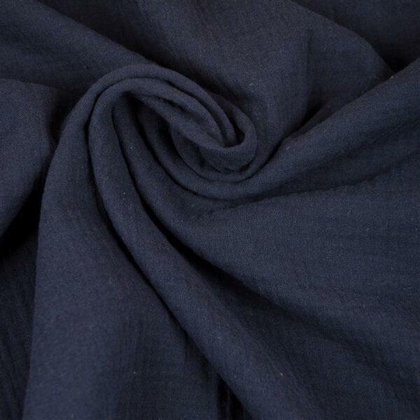 DOUBLE GAUZE Musselin dunkelblau