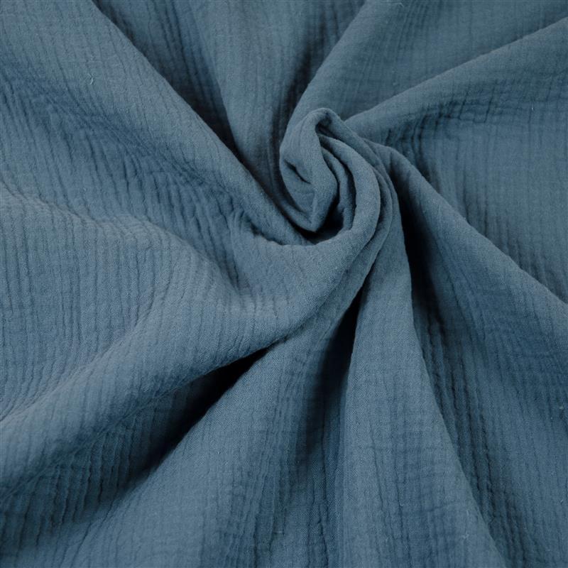 DOUBLE GAUZE Musselin jeansblau