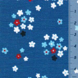 FRESH FRUITS by JaTiJu Baumwoll-Jersey Streublumen blau zoom