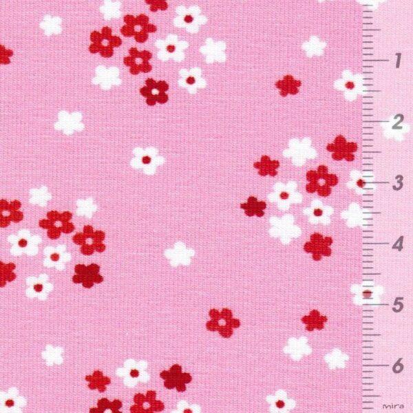 FRESH FRUITS by JaTiJu Baumwoll-Jersey Streublumen rosa zoom