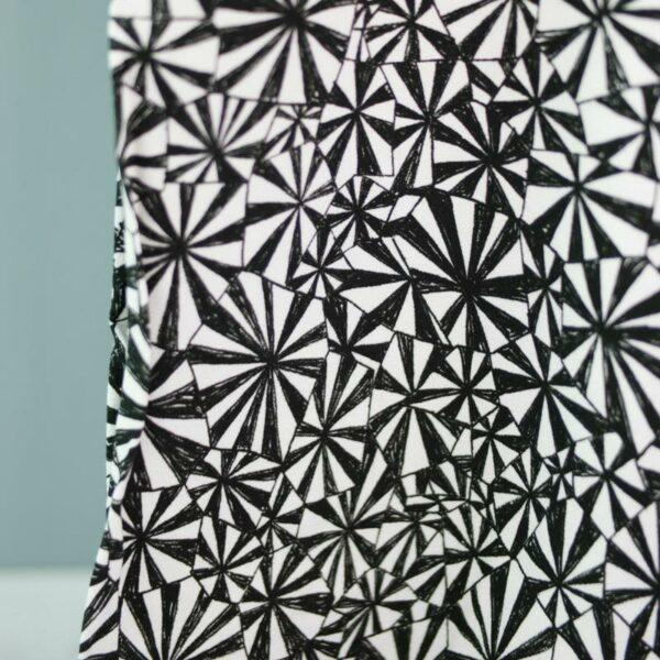 GEOMETRIQUE Viskose-Crepe Muster schwarz weiß 3