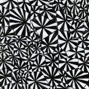 GEOMETRIQUE Viskose-Crepe Muster schwarz weiß