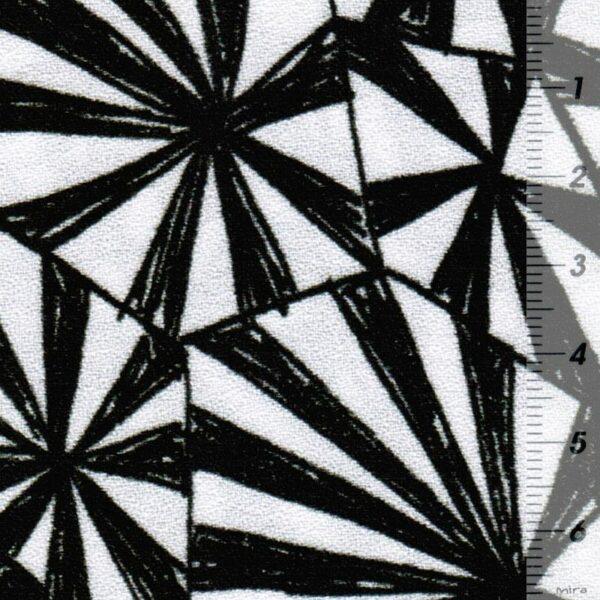 GEOMETRIQUE Viskose-Crepe Muster schwarz weiß zoom