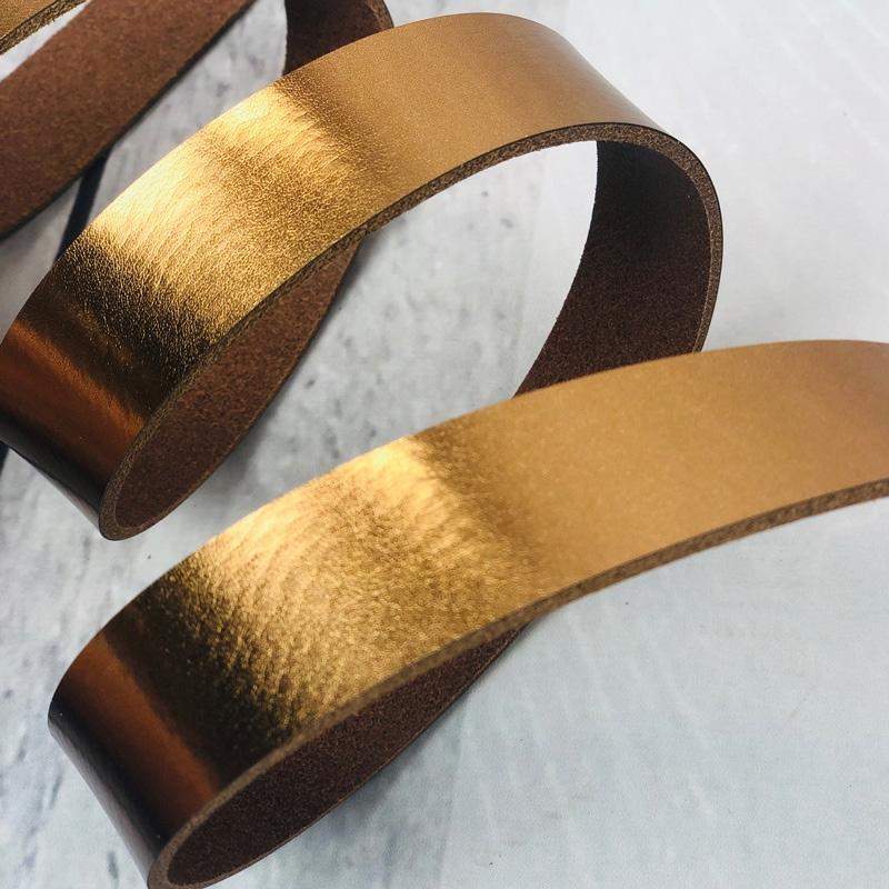 Lederriemen metallic kupfer 1