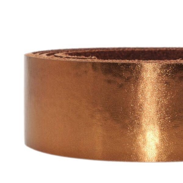 Lederriemen metallic kupfer 2