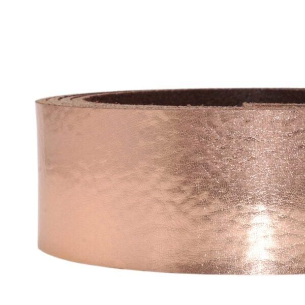 Lederriemen metallic rosegold 2