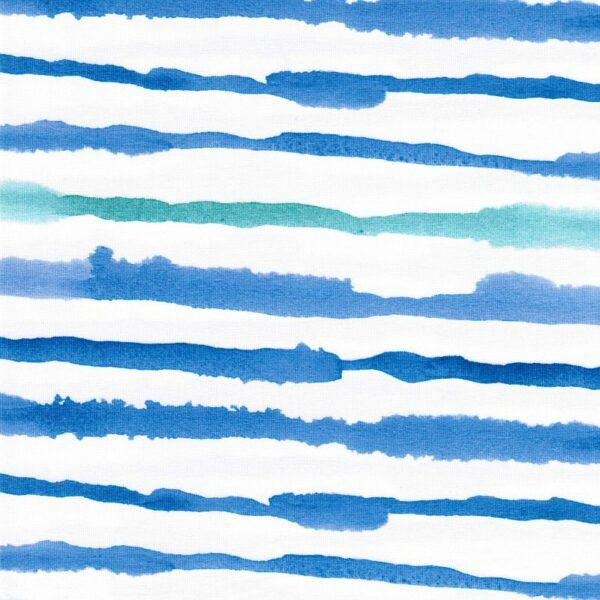 NAUTICAL STRIPE Baumwoll-Jersey Streifen blau mint