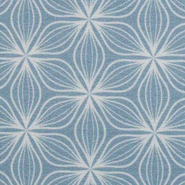 Puristic Flowers hellblau zoom