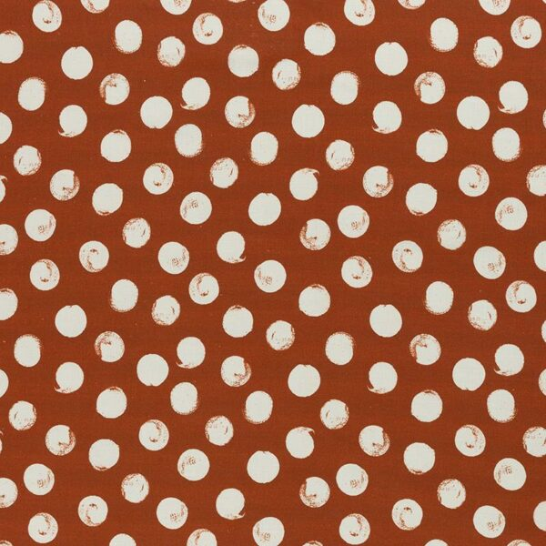 SELMA Viskose-Leinen-Webware Dots terrakotta creme total