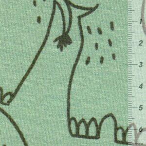 WILD FRIENDS Baumwoll-Jersey Elefanten pistazie zoom